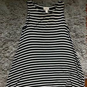 LOFT Striped Swing Dress